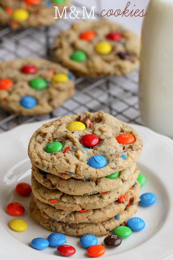 Mm Christmas Cookies  BEST M&M Cookies Recipe