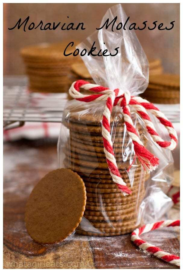 Moravian Christmas Cookies  Moravian Molasses Cookies What A Girl Eats
