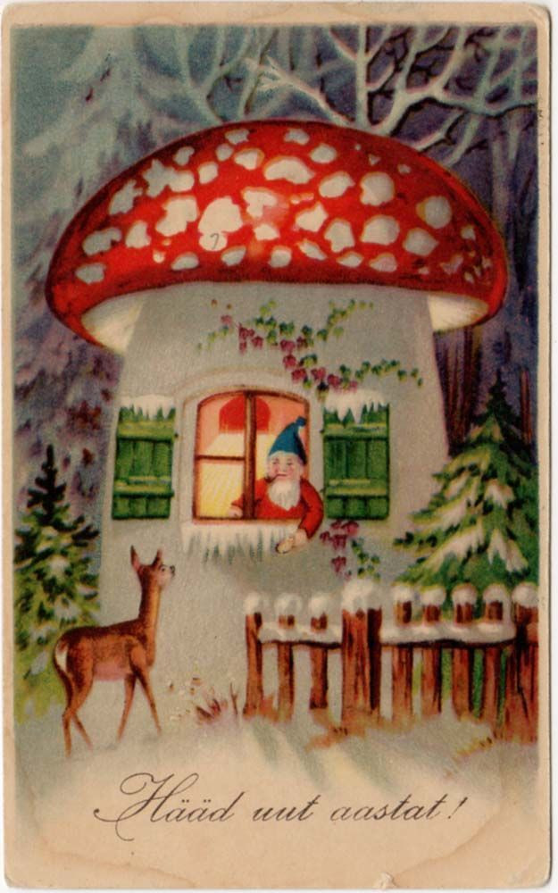 Mushrooms And Christmas  68 best MUSHROOM Patterns & Illustrations images on