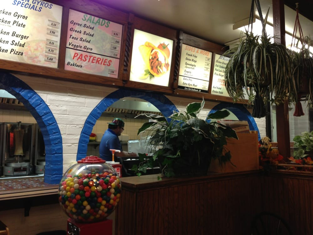 Nick'S Gyros Sioux Falls  The menu board at the order station Yelp