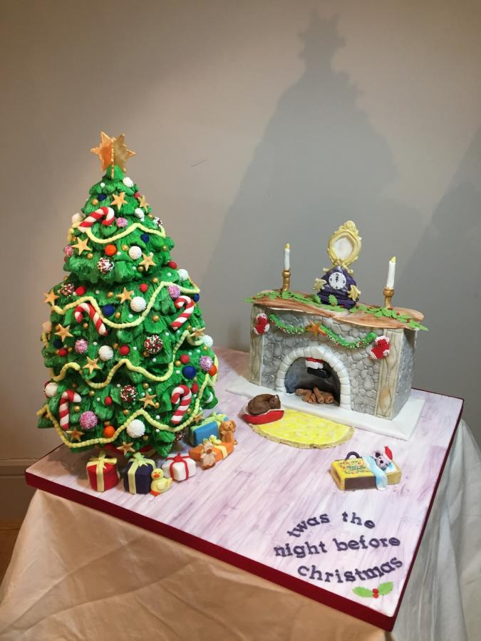 Night Before Christmas Cakes  Twas the night before Christmas cake by