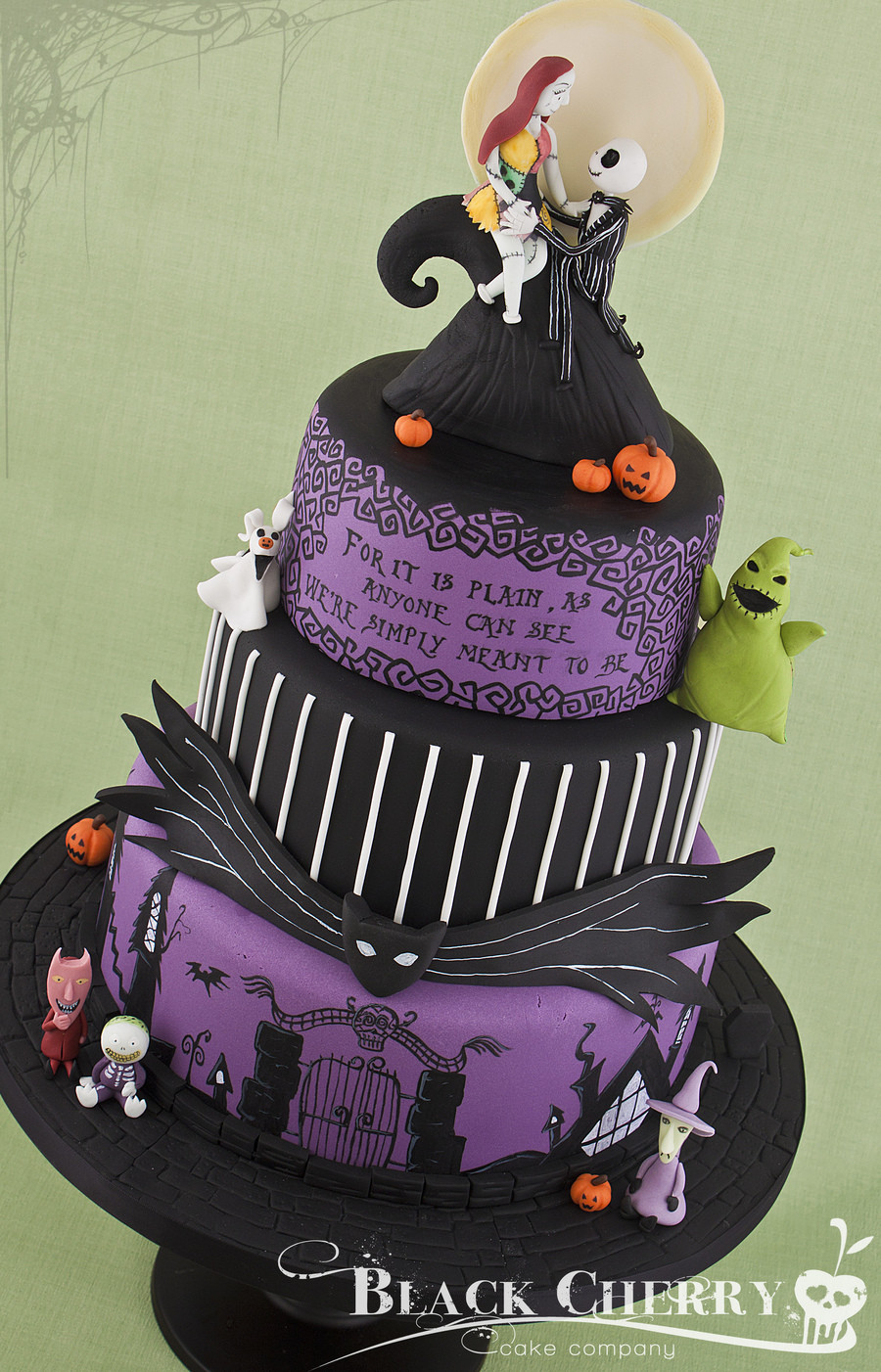 Night Before Christmas Cakes  Nightmare Before Christmas Wedding Cake CakeCentral