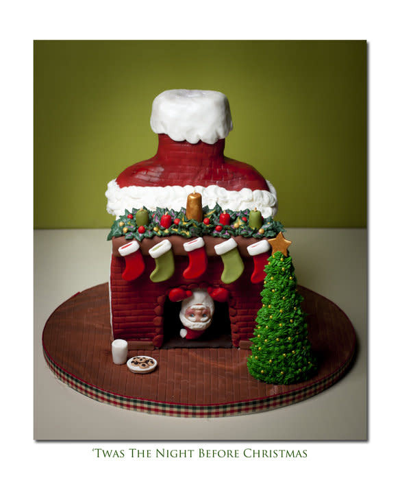 Night Before Christmas Cakes  Twas The Night Before Christmas cake by Jan Dunlevy