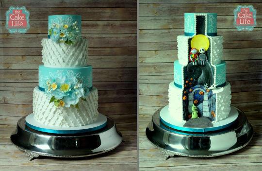 Nightmare Before Christmas Wedding Cakes  Nightmare before Christmas wedding cake cake by The Cake