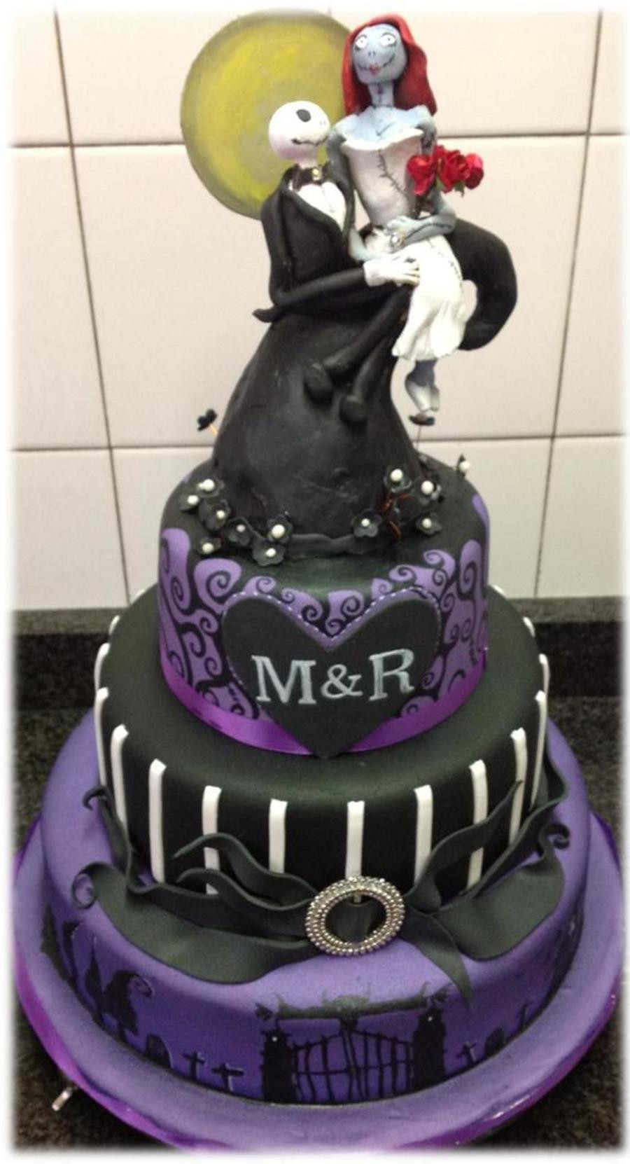 Nightmare Before Christmas Wedding Cakes  This Was A Wedding Cake For A Couple Who Wanted A