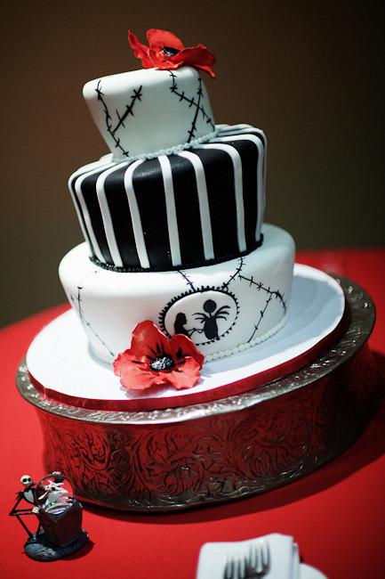 Nightmare Before Christmas Wedding Cakes  Disney Christmas Wedding Round Up This Fairy Tale Life
