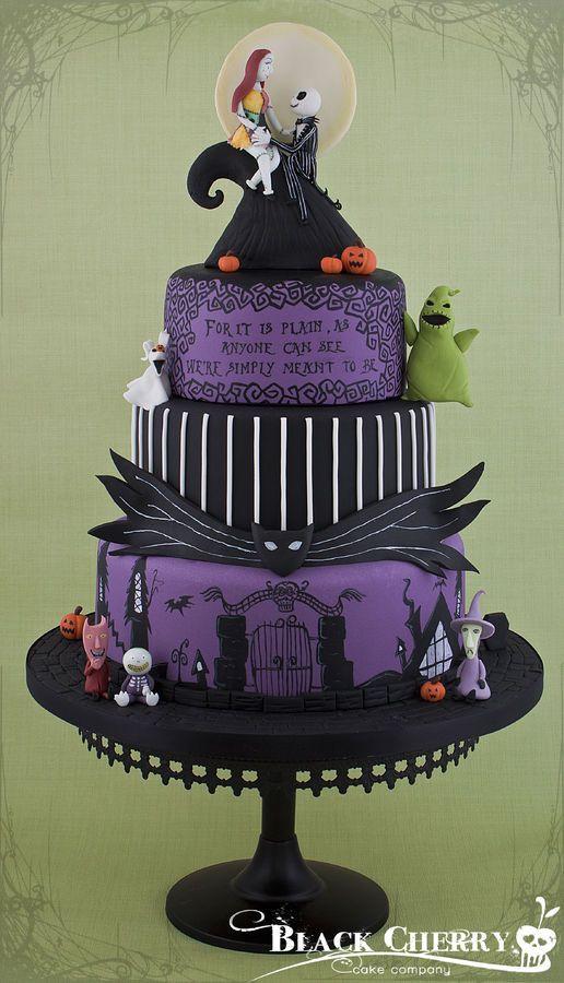 Nightmare Before Christmas Wedding Cakes  12 Spooky Wedding Invites Creative Market Blog