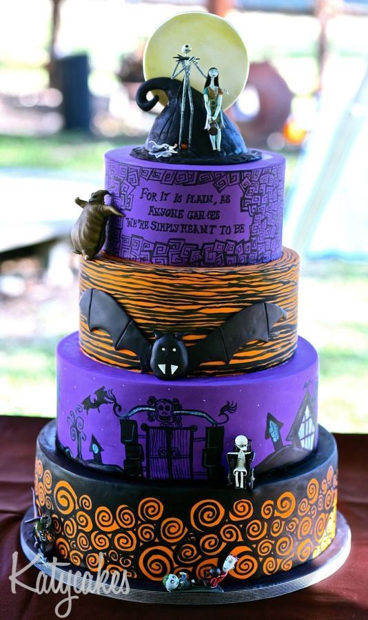 Nightmare Before Christmas Wedding Cakes  Nightmare Before Christmas Wedding Cake cake by