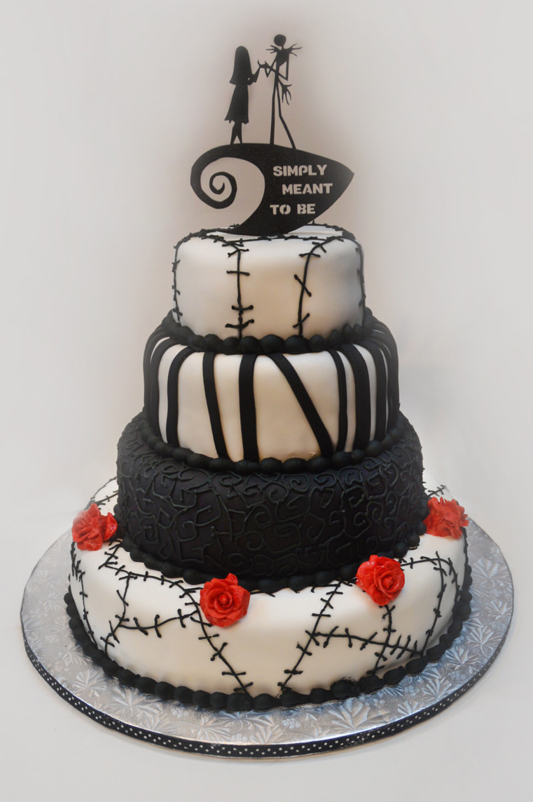 Nightmare Before Christmas Wedding Cakes  Nightmare Before Christmas wedding – ronna s cake blog