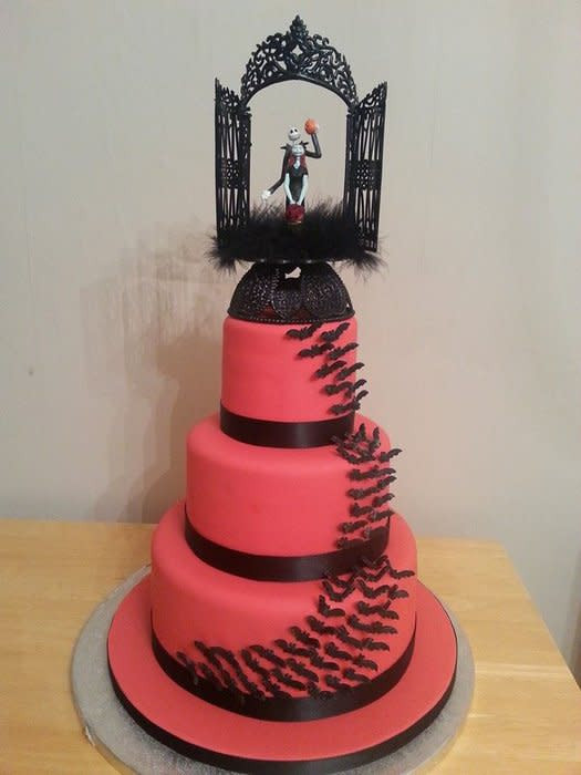 Nightmare Before Christmas Wedding Cakes  Nightmare Before Christmas wedding cake cake by Emma