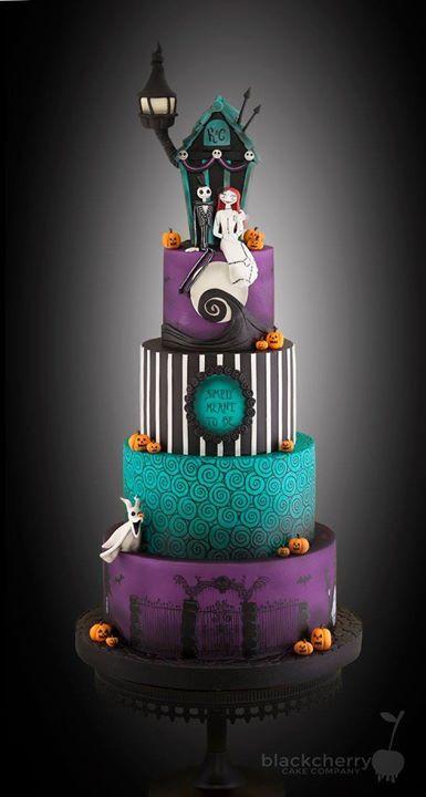 Nightmare Before Christmas Wedding Cakes  Nightmare Before Christmas wedding cake
