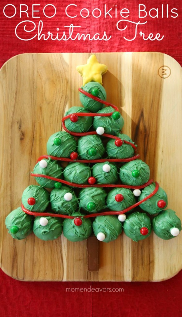 No Bake Christmas Tree Cookies  OREO Cookie Balls Christmas Tree