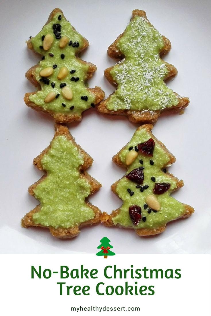 No Bake Christmas Tree Cookies  No Bake Christmas Tree Cookies Plant Based Recipe