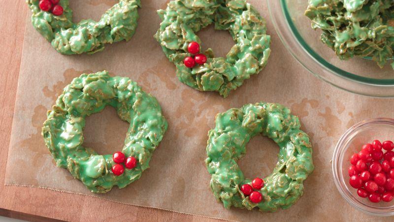 "No Bake Christmas Wreath Cookies  ""Great "" Deep South Recipes No Bake Christmas Wreath"