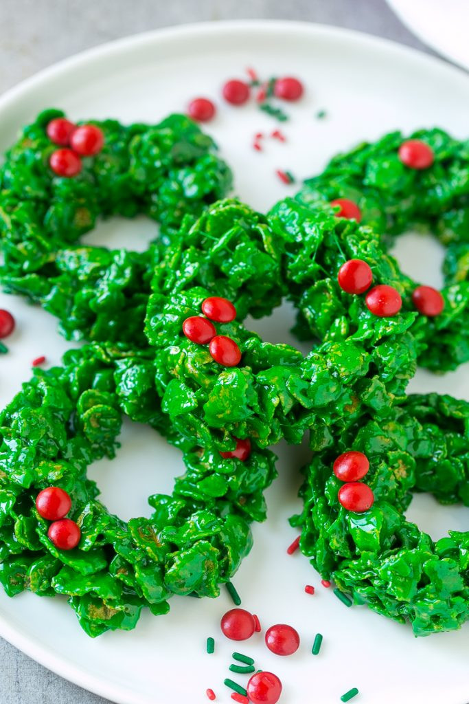 No Bake Christmas Wreath Cookies  Christmas Wreath Cookies Dinner at the Zoo