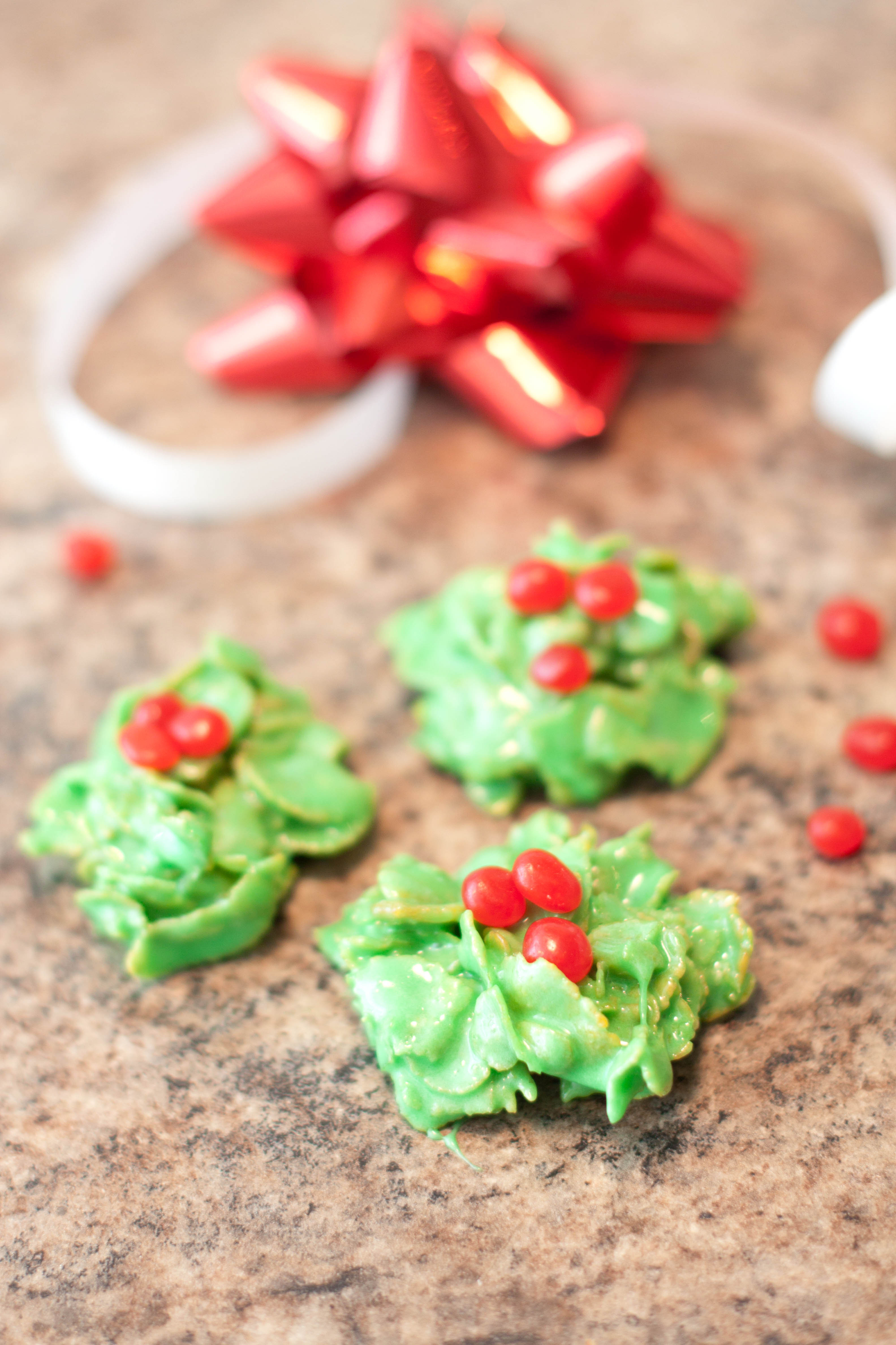 No Bake Christmas Wreath Cookies  Christmas Wreath Cookies Served From Scratch