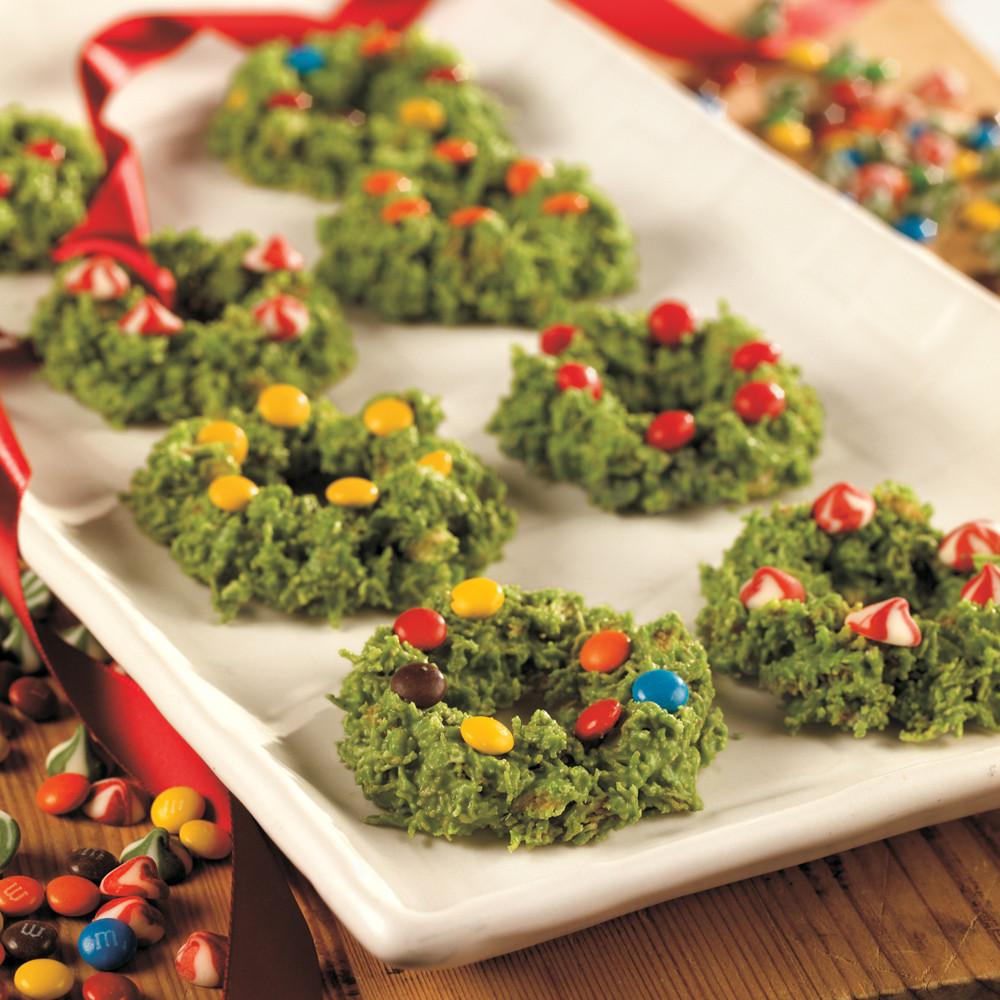 No Bake Christmas Wreath Cookies  Wreath Cookies Recipe