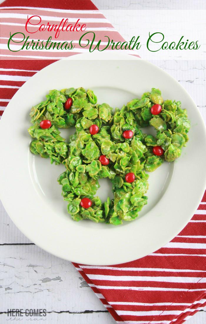 No Bake Christmas Wreath Cookies  Cornflake Christmas Wreath Cookies