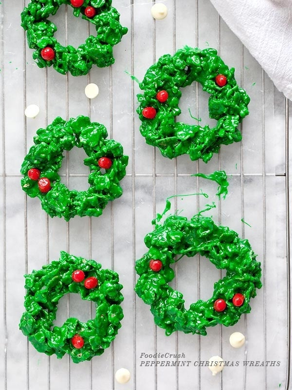 No Bake Christmas Wreath Cookies  Spread Holiday Cheer 7 No Bake Christmas Cookies