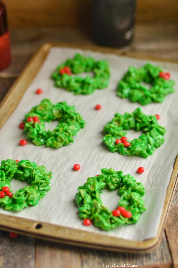 No Bake Christmas Wreath Cookies  No Bake Christmas Wreath Cookies Living Sweet Moments