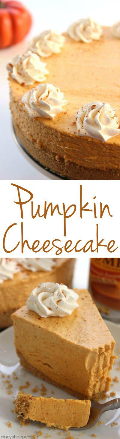 No Bake Fall Desserts  No Bake Pumpkin Cheesecake CincyShopper