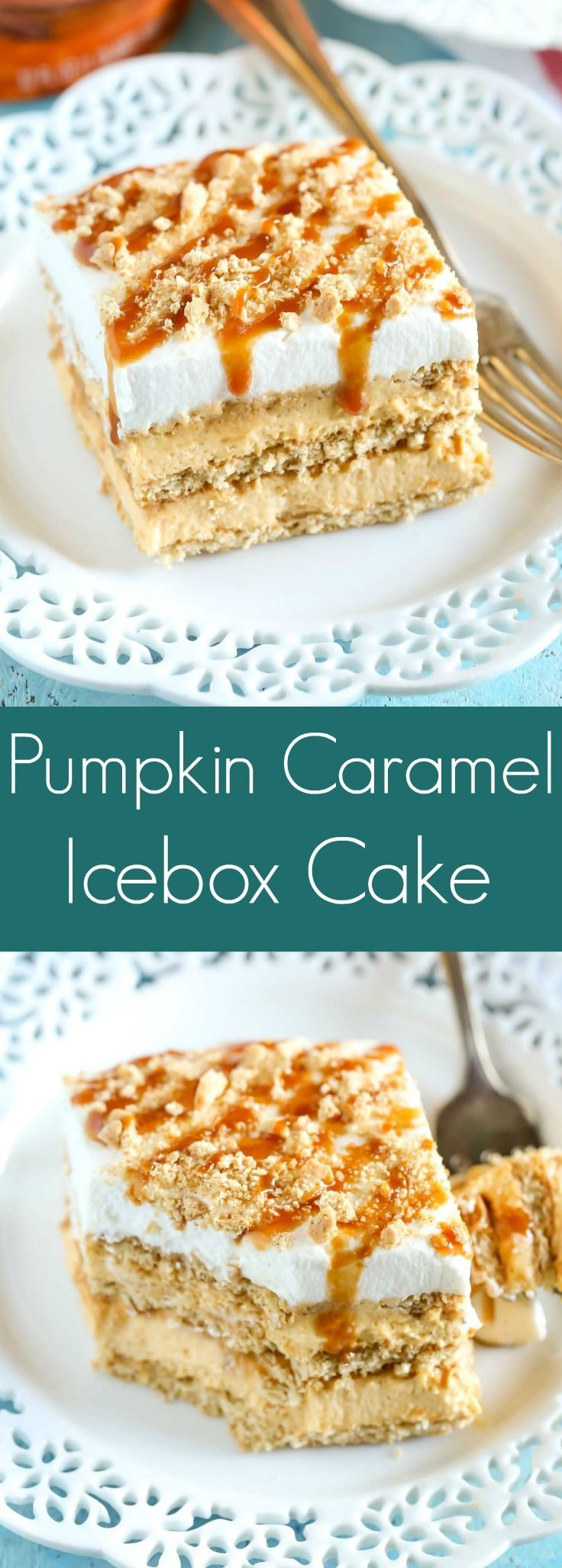 No Bake Fall Desserts  No Bake Pumpkin Caramel Icebox Cake Recipe