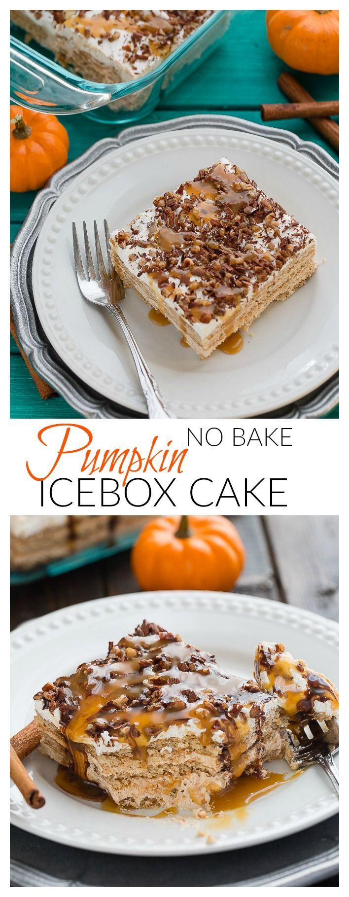 No Bake Fall Desserts  Easy No Bake Pumpkin Icebox Cake Recipe