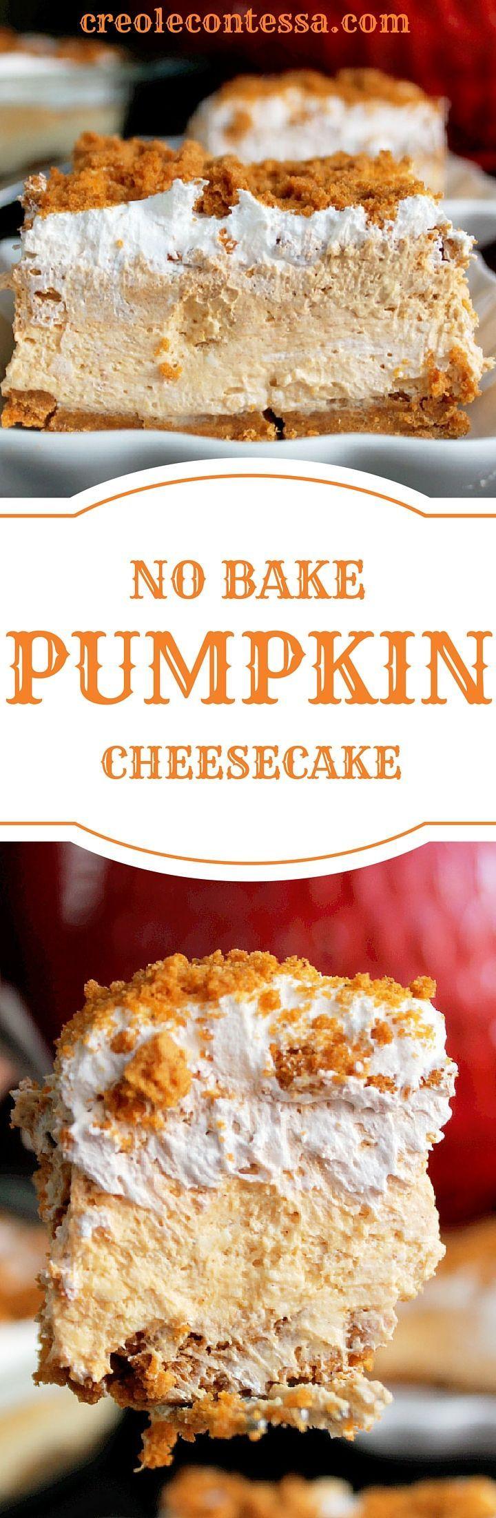 No Bake Fall Desserts  No Bake Pumpkin Cheesecake Lasagna Creole Contessa