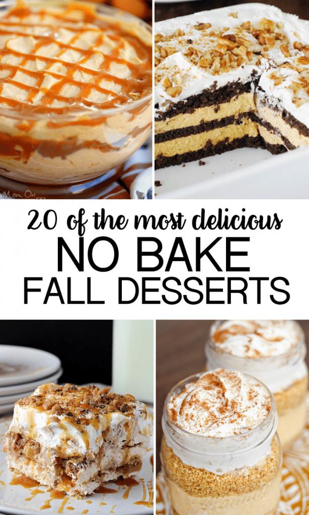 No Bake Fall Desserts  No Bake Fall Desserts