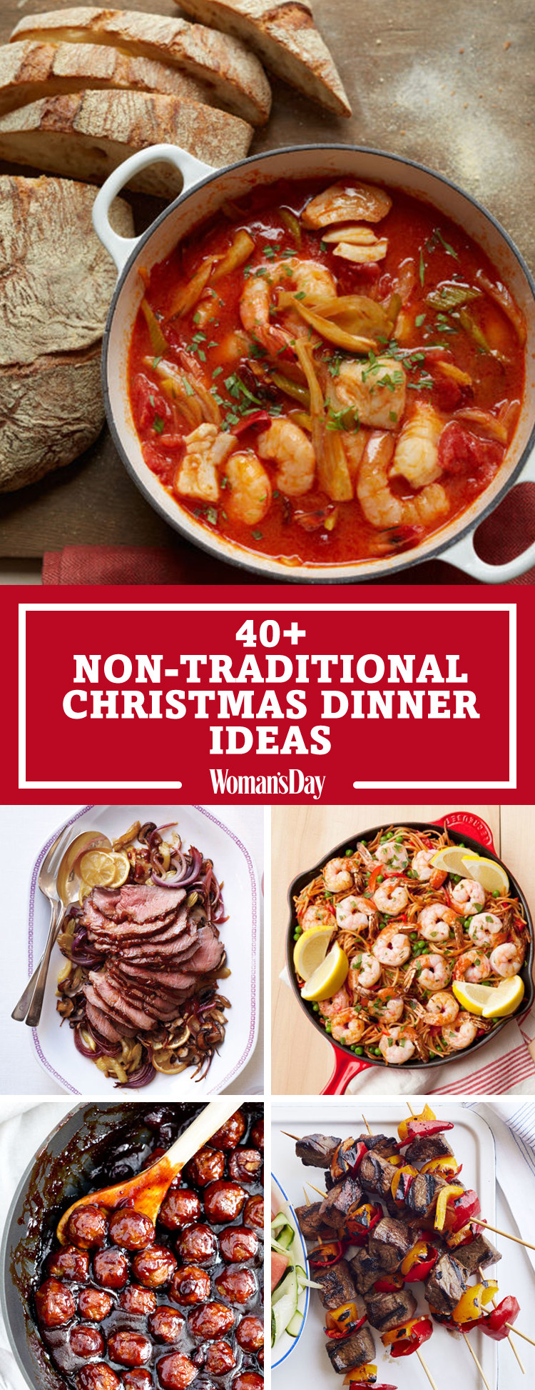 Non Traditional Christmas Dinner  40 Easy Christmas Dinner Ideas Best Recipes for