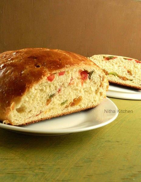 Norwegian Christmas Bread  Julekake Julekaga