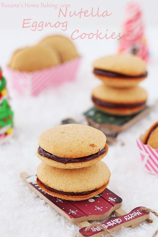 Nutella Christmas Cookies  Nutella eggnog cookies a trEATs affair