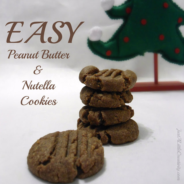 Nutella Christmas Cookies  EASY Peanut Butter and Nutella Cookies Christmas Cookie