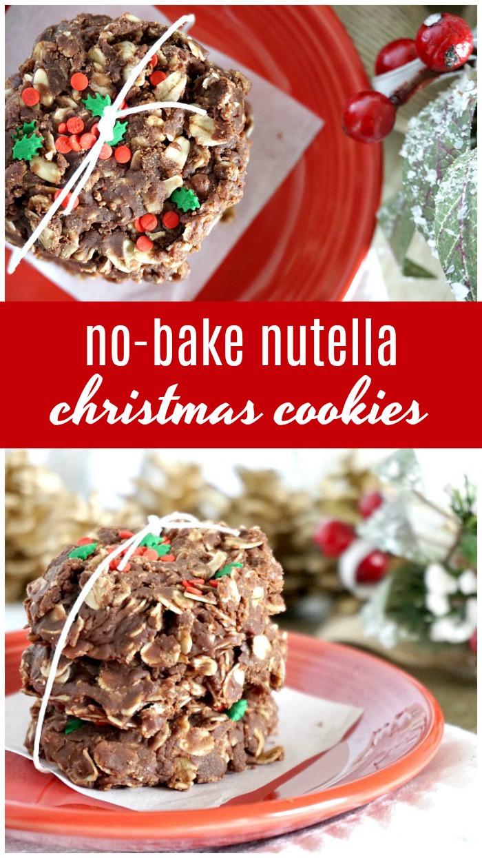 Nutella Christmas Cookies  No Bake Nutella Christmas Cookies Recipe