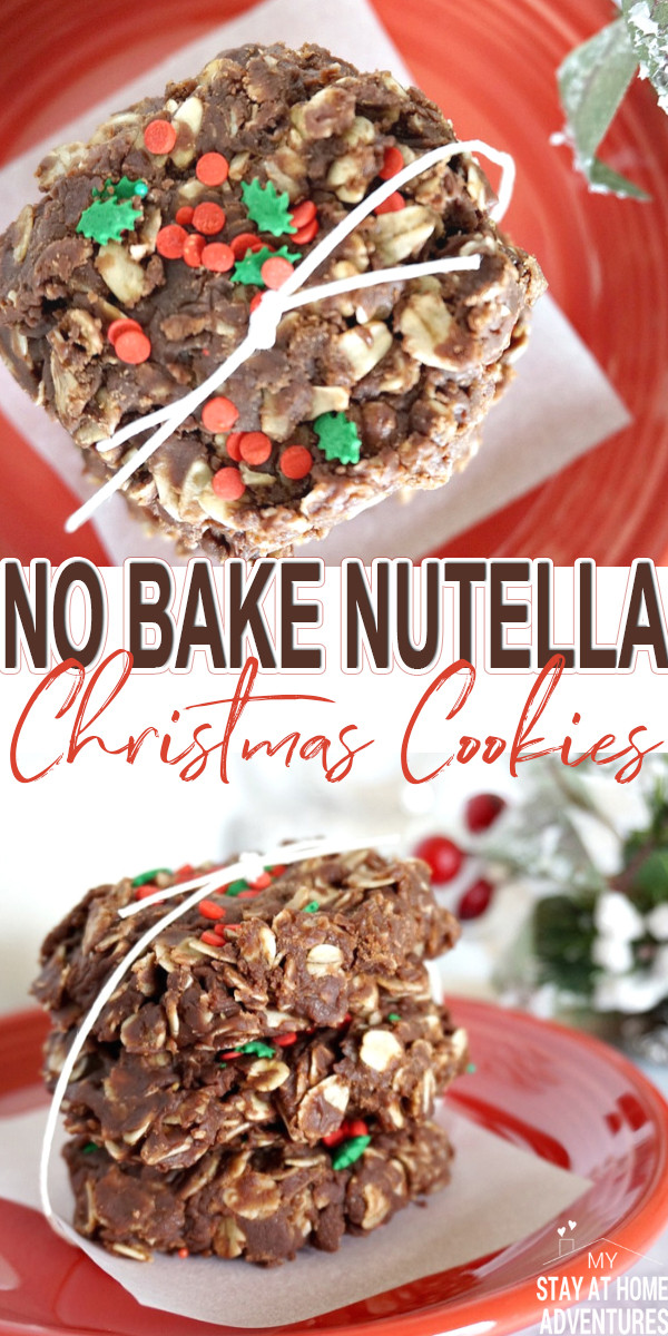 Nutella Christmas Cookies  No Bake Nutella Christmas Cookies My Stay At Home Adventures