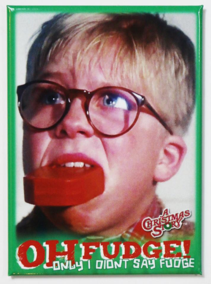 Oh Fudge A Christmas Story  A Christmas Story Oh Fudge FRIDGE MAGNET Ralph Parker