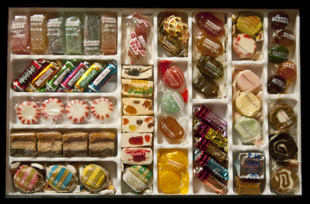 Old School Christmas Candy  CC Brach's bulk can s salesman display – 1970's