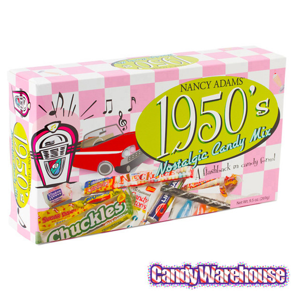 Old School Christmas Candy  Classic Candy Gift Box 1950 s