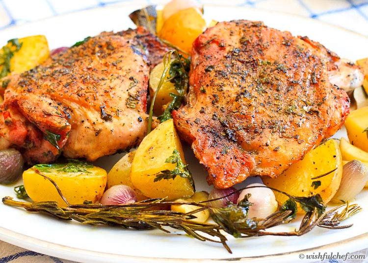 Oven Turkey Recipes Thanksgiving  Roasted Turkey Thighs A Thanksgiving Feast for Two