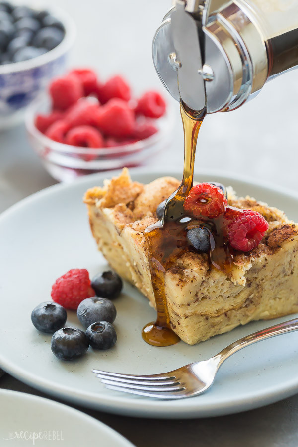 Overnight Crock Pot French Toast Great For Christmas Morning  Crockpot French Toast Recipe The Recipe Rebel
