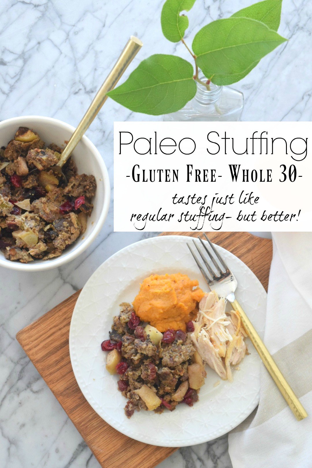 Paleo Thanksgiving Sides  Paleo Stuffing Healthy Thanksgiving Side Nesting With Grace