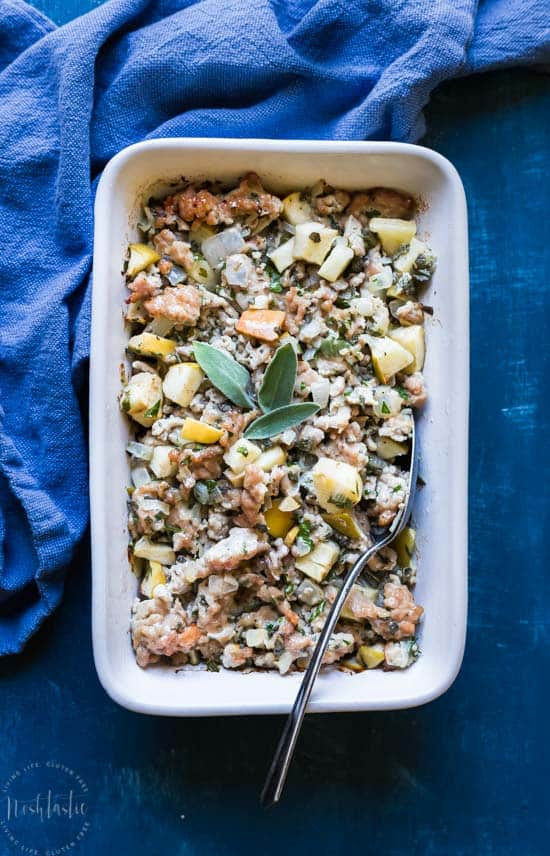 Paleo Thanksgiving Stuffing  Paleo Thanksgiving Stuffing with Pork Sage and Apple