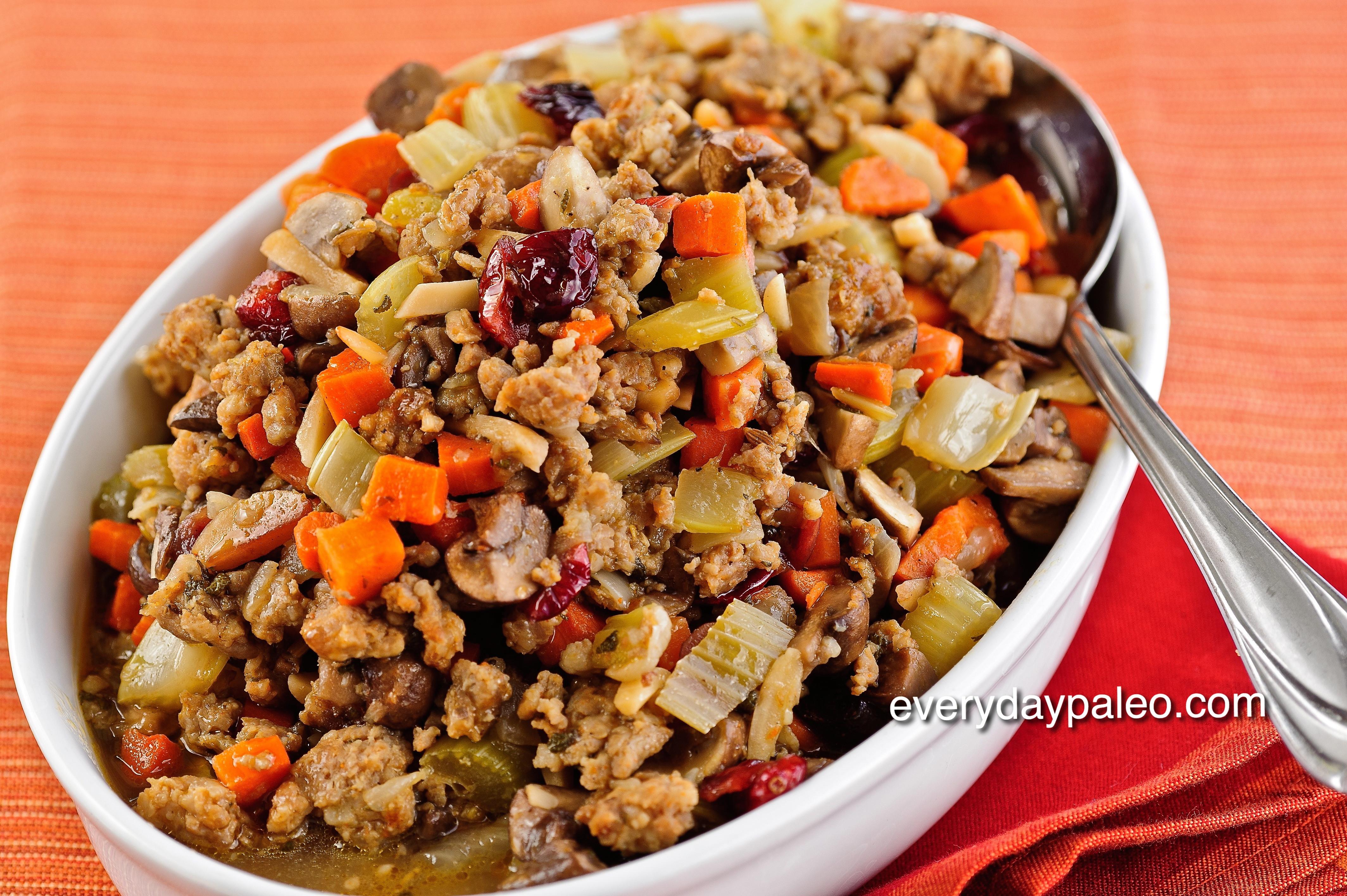Paleo Thanksgiving Stuffing  Dinner