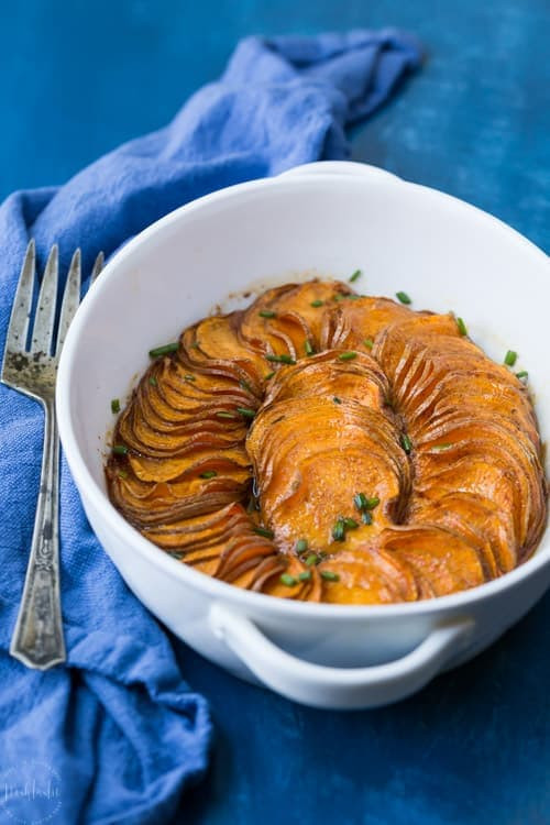 Paleo Thanksgiving Sweet Potatoes  Paleo Scalloped Sweet Potatoes Recipe with Maple Orange Glaze