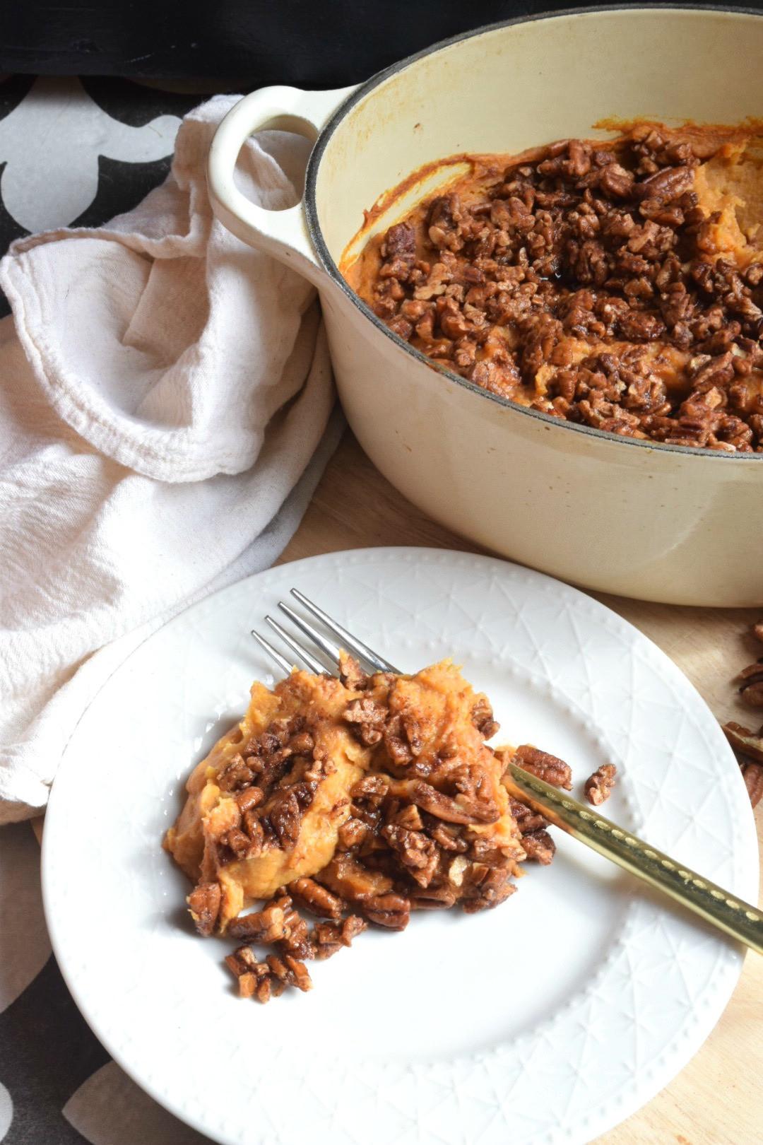 Paleo Thanksgiving Sweet Potatoes  Paleo Sweet Potato Casserole Healthy Thanksgiving Side