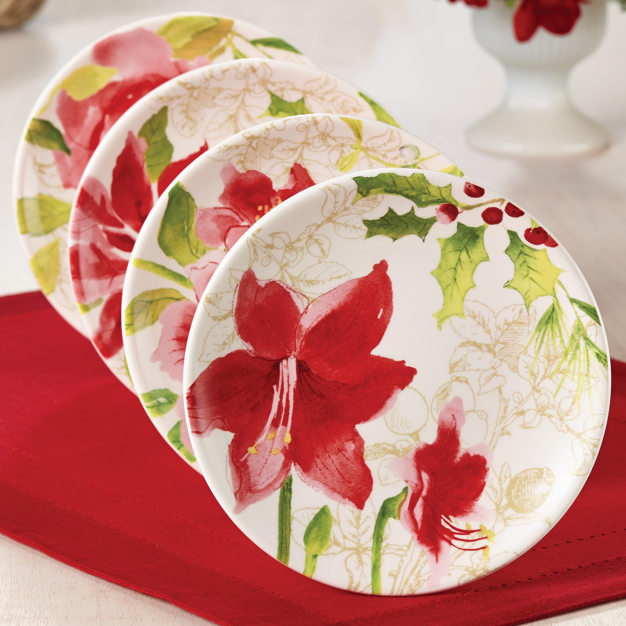 Paula Dean Christmas Desserts  Paula Deen Signature Holiday Floral Dessert Plate