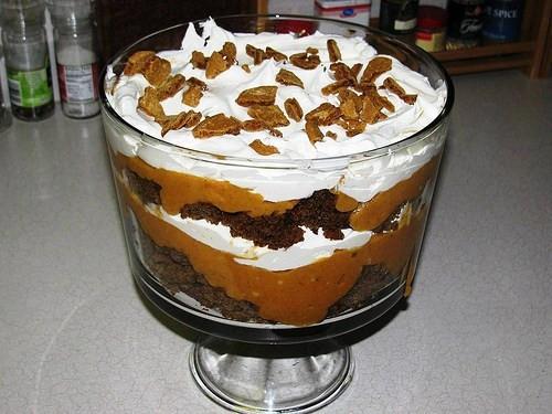 Paula Deen Thanksgiving Desserts  Paula Deen s Pumpkin Gingerbread Trifle