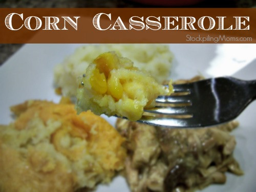 Paula Deen Thanksgiving Side Dishes  Corn Casserole