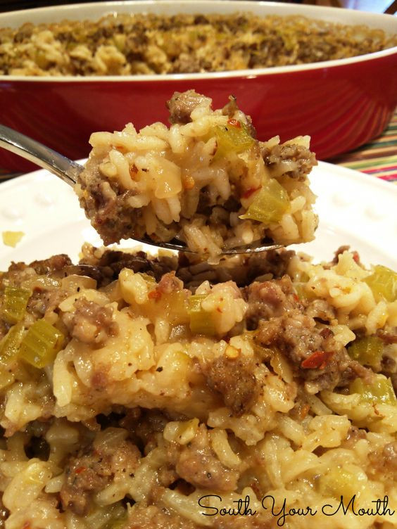 Paula Deen Thanksgiving Side Dishes  Sausage and Rice Casserole