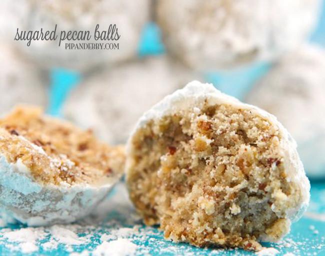 Pecan Balls Christmas Cookies  Sugared Pecan Balls Recipe — Pip and Ebby easy